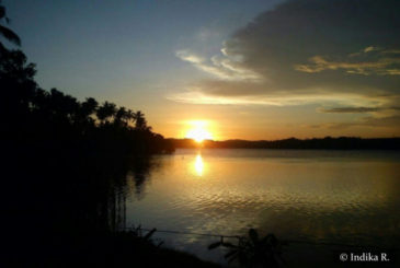 Sunset Mawella Lagoon