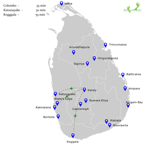 Flight Duration and Routes - Kandy
