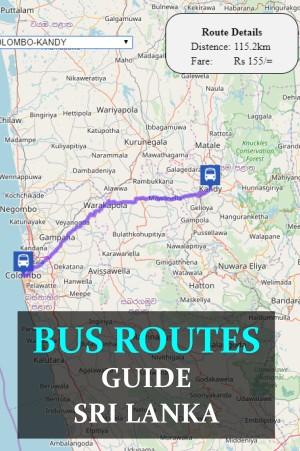 Bus routes Sri Lanka