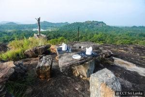 High tea on a rock in Dambulla