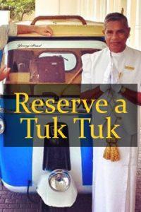 Reserve a Tuk Tuk Sri Lanka