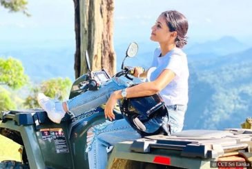 ATV quad ride on mountain terrain - Ella