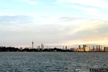 Colombo Harbour, Port City & Old Parliament by a Boat